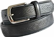 BNWT Black Textured Leather Business  Men's Belt RRP 39.95 60% OFF
