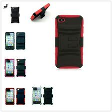 Armor Hybrid Kickstand Rugged Case Cover For Apple iPhone 4 4S Screen Protector