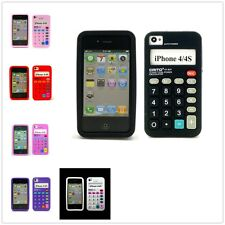 Retro Cool Calculator Design Style Soft Silicone Skin Case Cover For iPhone 4 4S