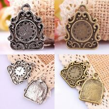 8Pcs Tibetan Silver/Bronze Clock Bell Charms Pendant Beads Jewelry DIY Findings