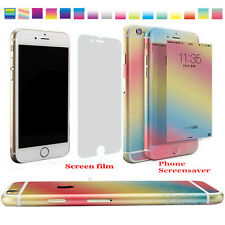 Gradient Colored Full Body Front Back Decal Skin Sticker Case For iPhone 6 6Plus