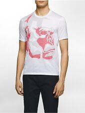 calvin klein mens platinum slim fit pixelated abstract monkey print t-shirt