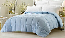 NEW Bed In A Bag Light Blue Comforter Set 3 Pc Reversible Solid/Emboss Striped
