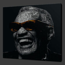 RAY CHARLES MUSIC ICON CANVAS PRINT POP ART READY TO HANG