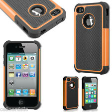 Shock proof iPhone 4 4S Rugged Rubber Matte Hard Case Cover *USA SELLER*