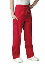 Adar Womens Elastic Drawstring Medical Nursing Scrub Pants Tapered Leg Pants NWT