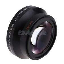 Wide Angle Macro Auxiliary Lens For Canon18-135 Nikon18-105 Black