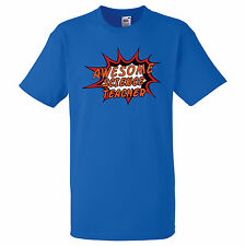 AWESOME SCIENCE TEACHER PERSONALISED COMIC BOOK PRINT T SHIRT