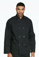Dickies Unisex Classic 8-Button Chef Coat Black DC45 BLK FREE SHIP!