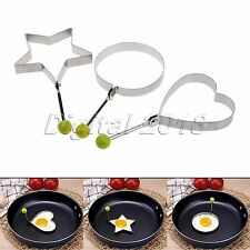 Pancake Ring Mould Mold Cooking Fried Egg Shaper Kitchen DIY Tool  Stainless