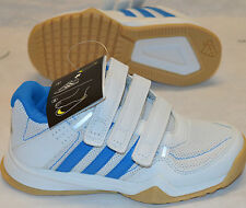 ADIDAS GYMPLUS CF K VELCRO TRAINERS WHITE/BLUE UK KIDS SIZES 11 & 13 BNIB