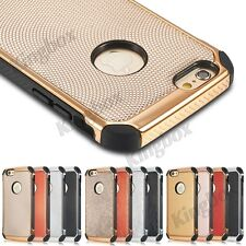 Luxury Chrome Metallic Rugged Hybrid Shockproof Case Cover For iPhone 6 6S Plus