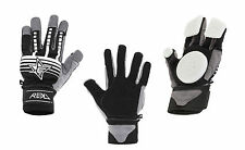 Rekd Longboard / Skateboard Slide Carving GLoves With Pucks Black