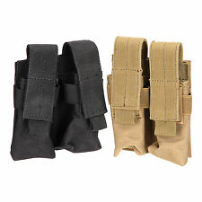 Tactical Molle Double Cartridge Clip Bag Pistol Magazine Mag Pouch Carry Bag