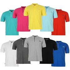 Slazenger Plain Polo Shirt Mens Tennis Golf Short Sleeves ~All Sizes S - XXXXL