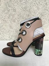 Zara Combination High Heel Leather Sandals Multicolor Sold Out US6-8