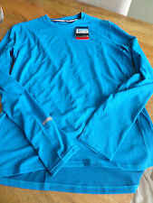 NIKE MENS RUNNING DRI-FIT STAY WARM TRAINING TOP - BLUE - STAY WARM - LARGE