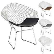 Diamond Shaped Chair Wire Mesh Chair Mid Century Modern Lounge Accent Chair