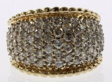 Ladies Genuine Diamond Cluster Ring in 14 Kt Yellow Gold