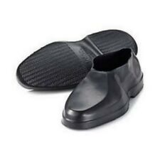 Totes Mens Black Rubbers Geometric Loafer Shoe Covers Galoshes M Fit 8.5 - 9.5