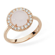 Sterling Silver White & Pink Cubic Zirconia Rose Gold Plated Ring