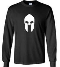 Spartan Helmet Long Sleeve T-Shirt Molon Labe Mens Tee
