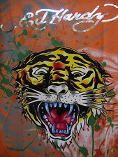 Ed Hardy Boys Roaring Tiger with splash  tee shirt premium shirt top  logo tee