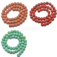 Round Loose Spacer Turquoise Gemstone Stone Bead for Necklace Bracelet Making