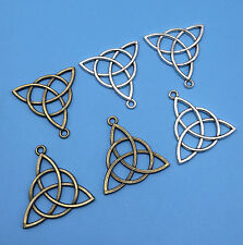 Antique Silver/Bronze Trinity Irish Celtic Knot Charm Pendant Jewelry Findings