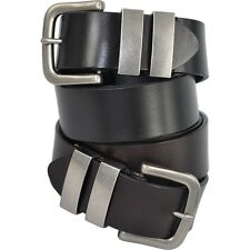 Premium Full Grain Genuine Leather Men's Belt Avail in Black and Dark Brown SALE