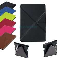 Smart Wake/Sleep Folio Stand Case PU Leather Cover for Amazon Kindle Fire HD 7""
