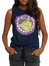 Disney Beauty And The Beast Stained Glass Juniors Muscle Tank Top S, M,L,XL -NWT