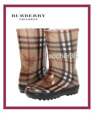 BURBERRY KIDS NYLES HAYMARKET CHECK RAIN BOOTS SIZES 8.5, 11/12, OR 13 NIB $150