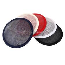 Round sinamay hat bas For Hostesses Pillbox fascinators Millinery Party DIY