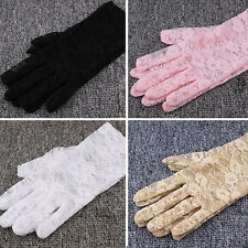Women's Sexy Colour Lace Wrist UV Protection Sun Bridal Dressing Driving gloves