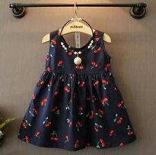 Baby Girl Dress Clothes Floral Print Girls Dress Summer Costume Casual Clothes