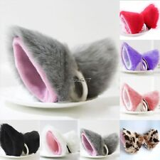 New Cosplay Party Cat Fox Long Fur Ears Anime Neko Hair Clip Orecchiette EA77