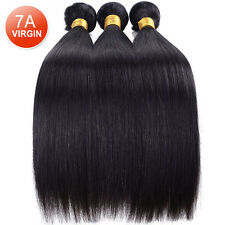Brazilian 7A Straight 100% Unprocessed Human Hair Extension Weave 300g/3 Bundles