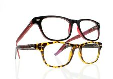 Fashion Full Frame Reading Glasses Temple Simulated Leather +1.0 ~ +4.0 Readers