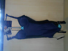 NEW LADIES M&S LIMITED COLLECTION PURPLE SATIN MESH BODY SHAPER SUSPENDERS