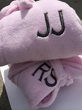 NEW IN PACKAGE!! LIGHT PINK   PLUSH SPA BATH ROBE S, M, L, XL