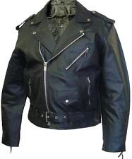 NEW MENS BLACK MOTORCYCLE BRANDO LEATHER JACKETS S TO 3XL