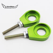 Green 15mm Axle Chain Adjuster Tensioner For Pitster Pro YCF TTR Pit Dirt Bike