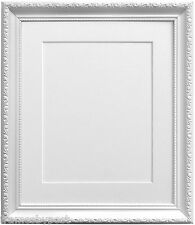 White Photo Picture frame AP3025 With Black White Ivory Pink or Blue Mounts