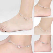 New Women Foot Jewelry Silver Plated Chain Anklet Bracelet Barefoot Sandal Beach