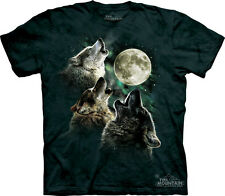 The Mountain Three Wolf Howl Wolves Moon Adult T-Shirt PRINT IN USA MT60