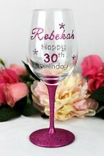 30th Birthday Wine Glass - Personalised Gift - Add a Name & Message