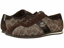 BRAND NEW COACH IVY SIGNATURE SNEAKERS TENNIS SHOES BLACK-BROWN/CHESTNUT