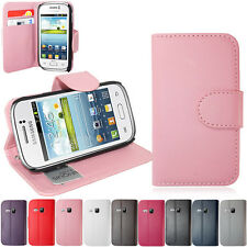SIDE OPENING PU LEATHER WALLET CASE COVER FOR SAMSUNG GALAXY YOUNG S6310
