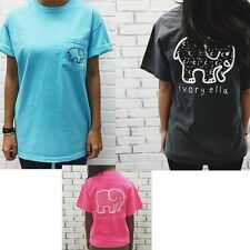 Elephant Print Shirt Casual Loose Pocket Womens Tops Top Tee Shirt Boho